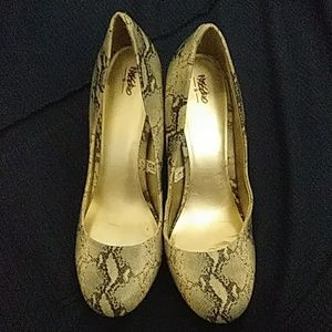 Snakeskin High heels pumps